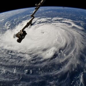 Hurricane Florence as seen from space